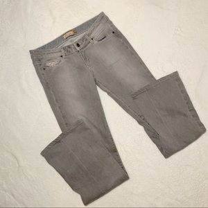PAIGE Laurel Canyon Gray Washed Embellished Jeans